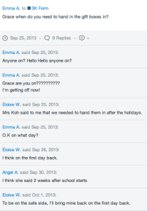 Student communication  and problem solving (Image from www.edmodo.com )